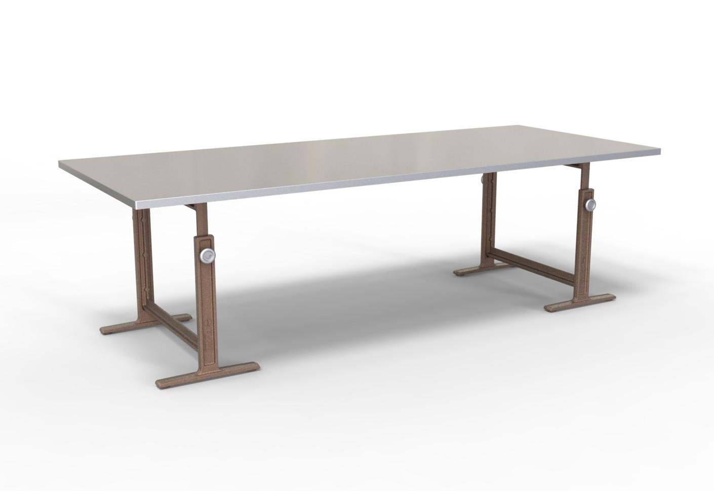 Schragen tafel cheap tafel schragen lystrup industriele tafel van