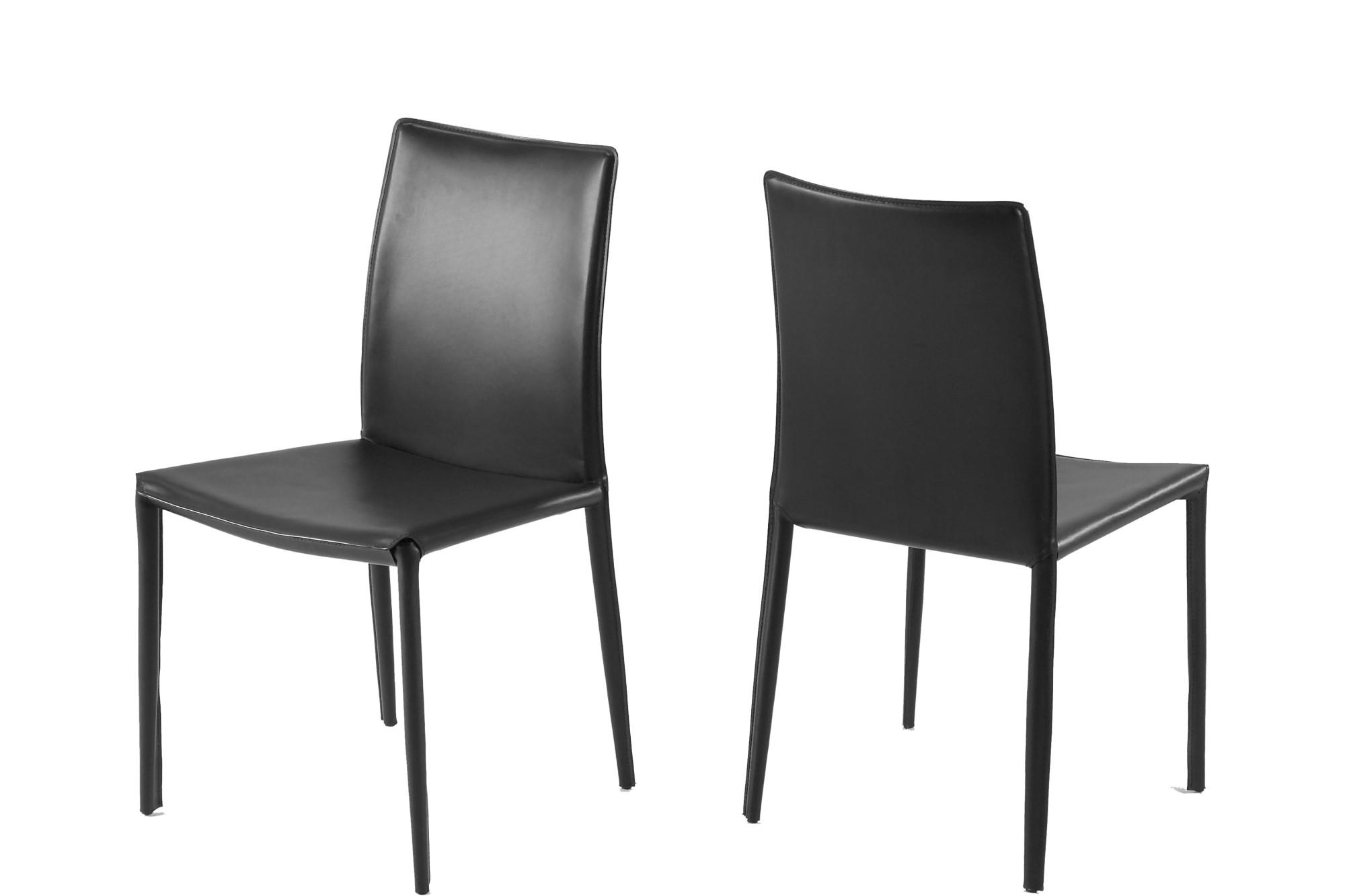 Zwarte eettafel stoelen for Eetkamerstoelen scandinavisch