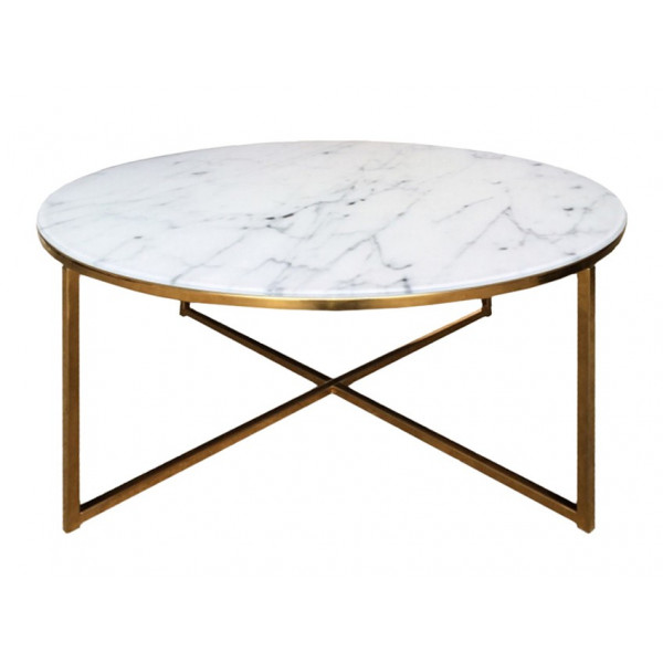 Alisma Coffee Table Round Gold (Magzijnopruiming)