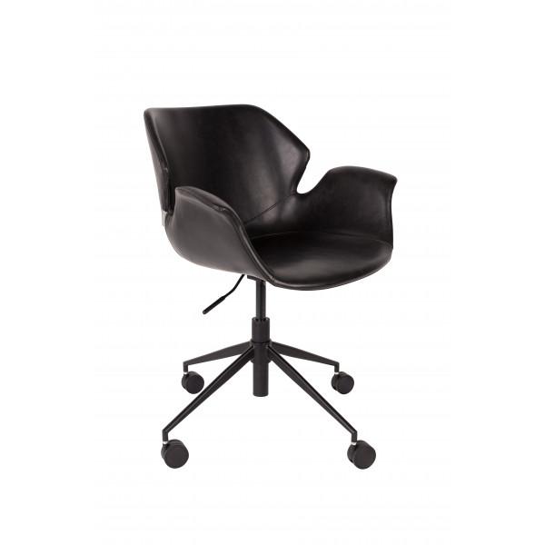 Nikki All Black office chair