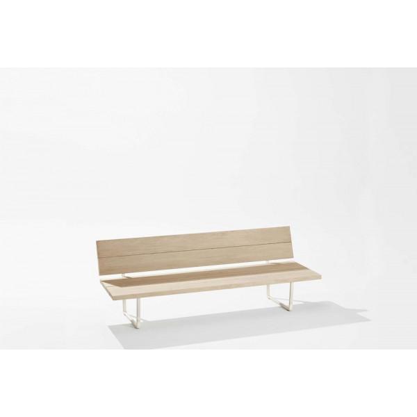 New-Wood Plan Bench met rugleuning