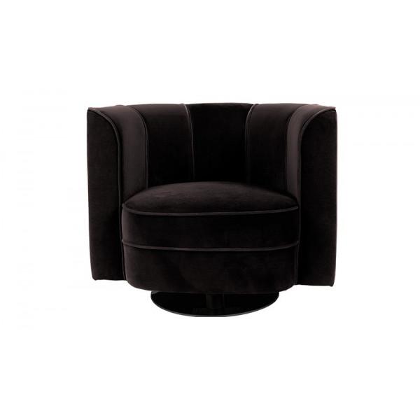 Flower lounge chair black