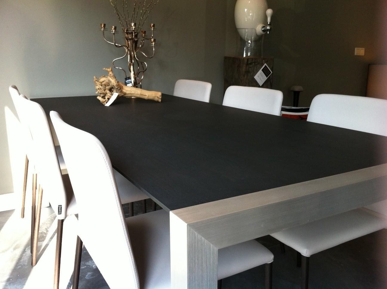 Extendable wood verlengbare tafel puur scherp geprijsd for Eiken design tafel