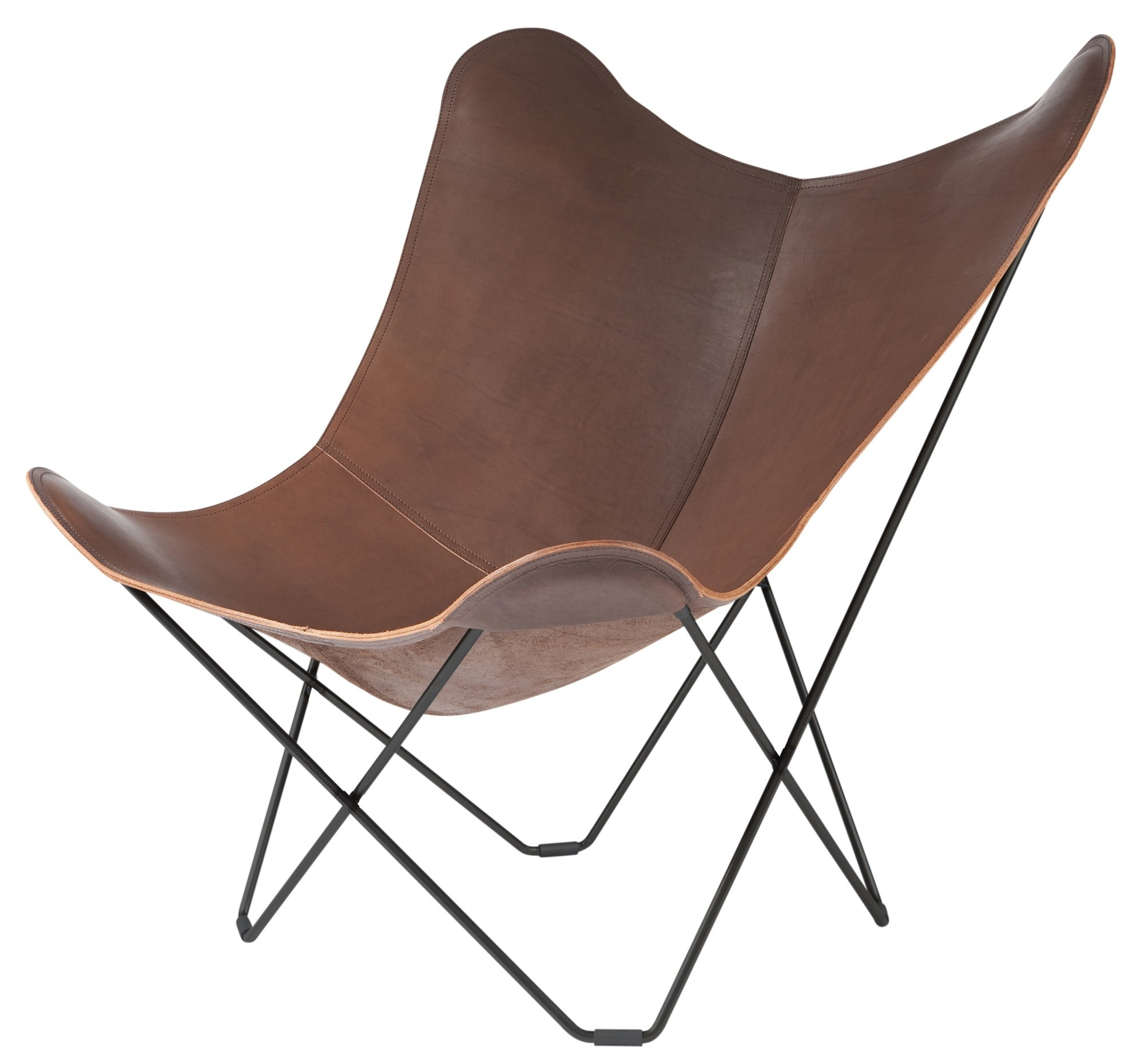 cuero pampa mariposa chair. Black Bedroom Furniture Sets. Home Design Ideas