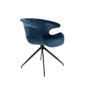 Mia stoel donkerblauw