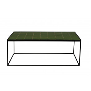 Glazed coffee table green