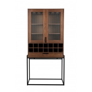 Travis cabinet wijnkast walnut