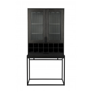 Travis cabinet wijnkast black oak