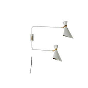 Shady wall double wandlamp