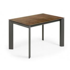 ATTA tafel met porseleinen tafelblad iron corten