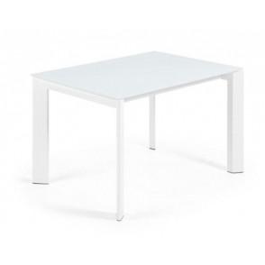 ATTA tafel met wit glazen tafelblad