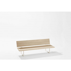 New-Wood Plan Bench met rugleuning