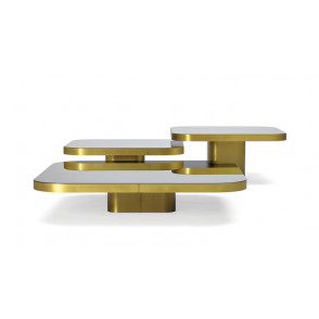 Bow Coffee Table brass 100x100
