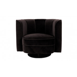 Flower lounge chair black