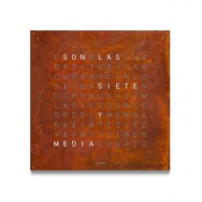 Qlocktwo Large Creator's Edition Rust