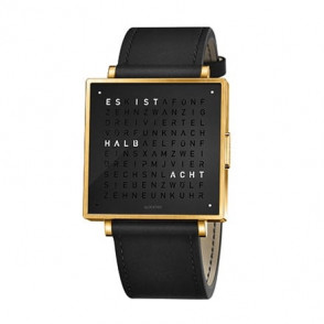 Qlocktwo W 39 GOLD BLACK