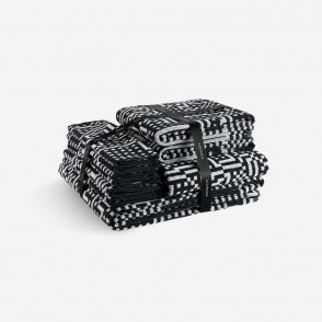 Route Black and Light Grey Bath towel pack