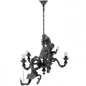 Monkey Chandelier - zwart