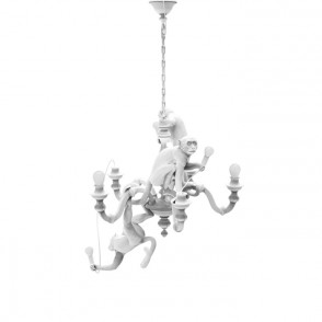 Monkey Chandelier - wit