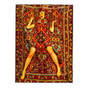 Rectangular Lady on Carpet Rug