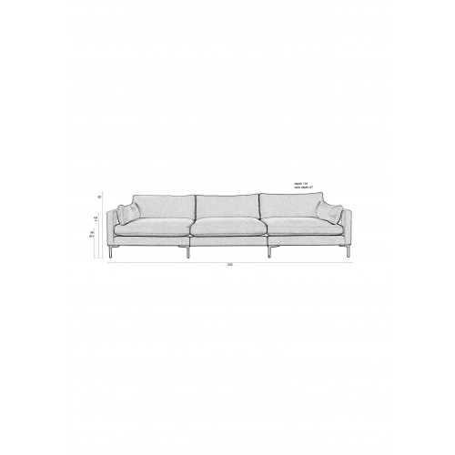 Summer Sofa 4,5 zits Antraciet