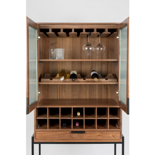 Travis cabinet wijnkast walnut