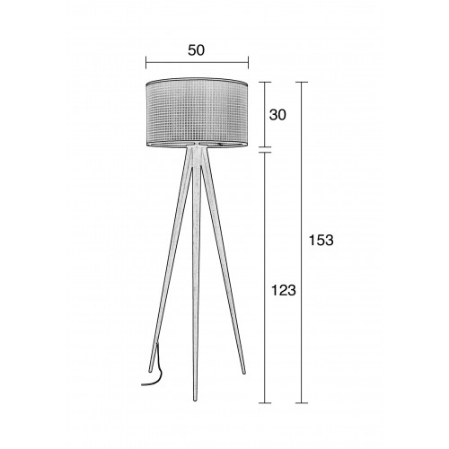 Webbing tripod floor lamp vloerlamp