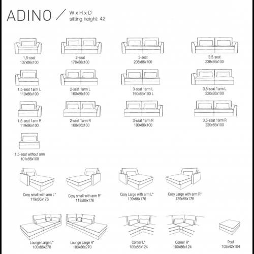 Adino hoekbank
