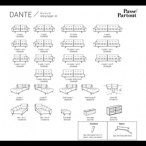 Dante 4-zits bank
