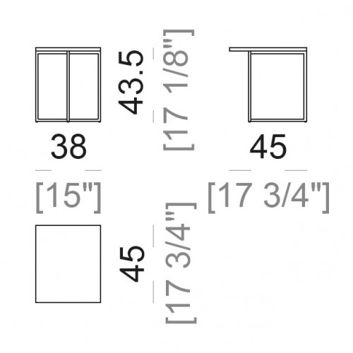 Armonia bijzettafel vierkant