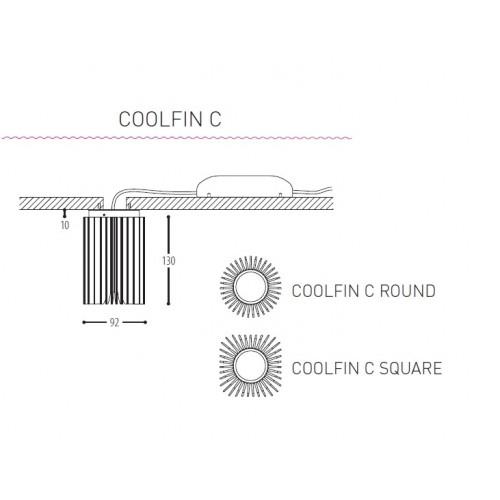 Coolfin C spot vierkant