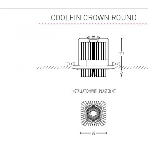 Coolfin crown rond