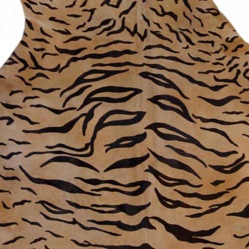 Printed cow hide