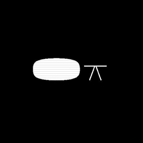 Esedra Oval Table