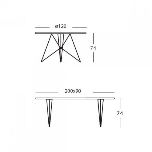 Tavolo XZ3 rechthoekig