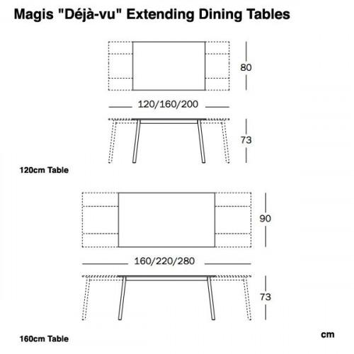 Déjà-vu Table uitschuifbare tafel