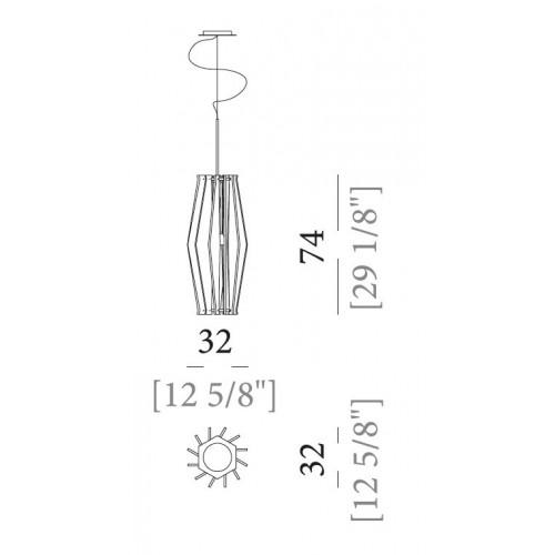 Oompa-Loompa hanglamp Ø32 Arketipo
