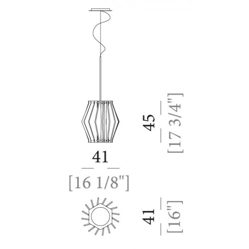 Oompa-Loompa hanglamp Ø41 Arketipo