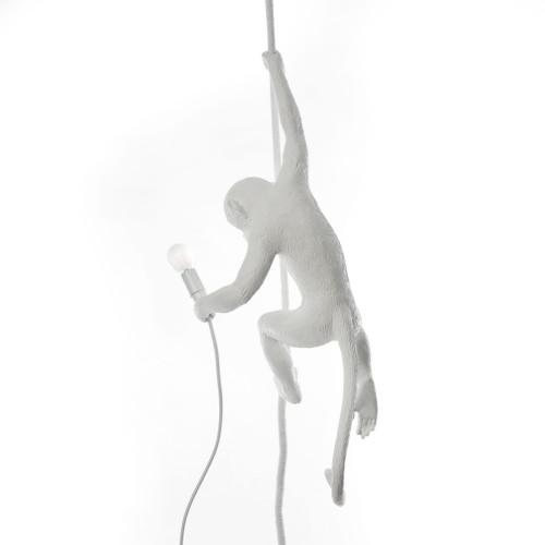 Monkey (hangend aan touw) - wit