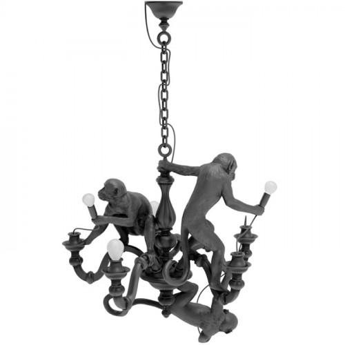 Monkey Chandelier - zwart