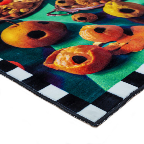 Rectangular Food with Holes Rug