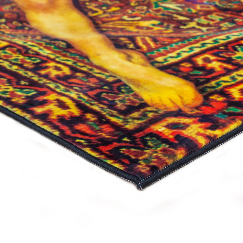 Rectangular Lady on Carpet Rug