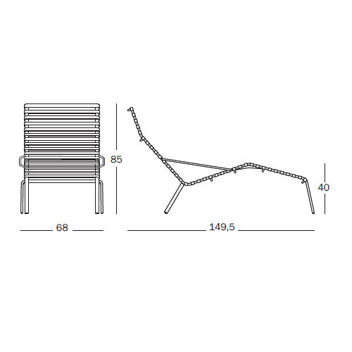 Striped Chaise Longue Magis