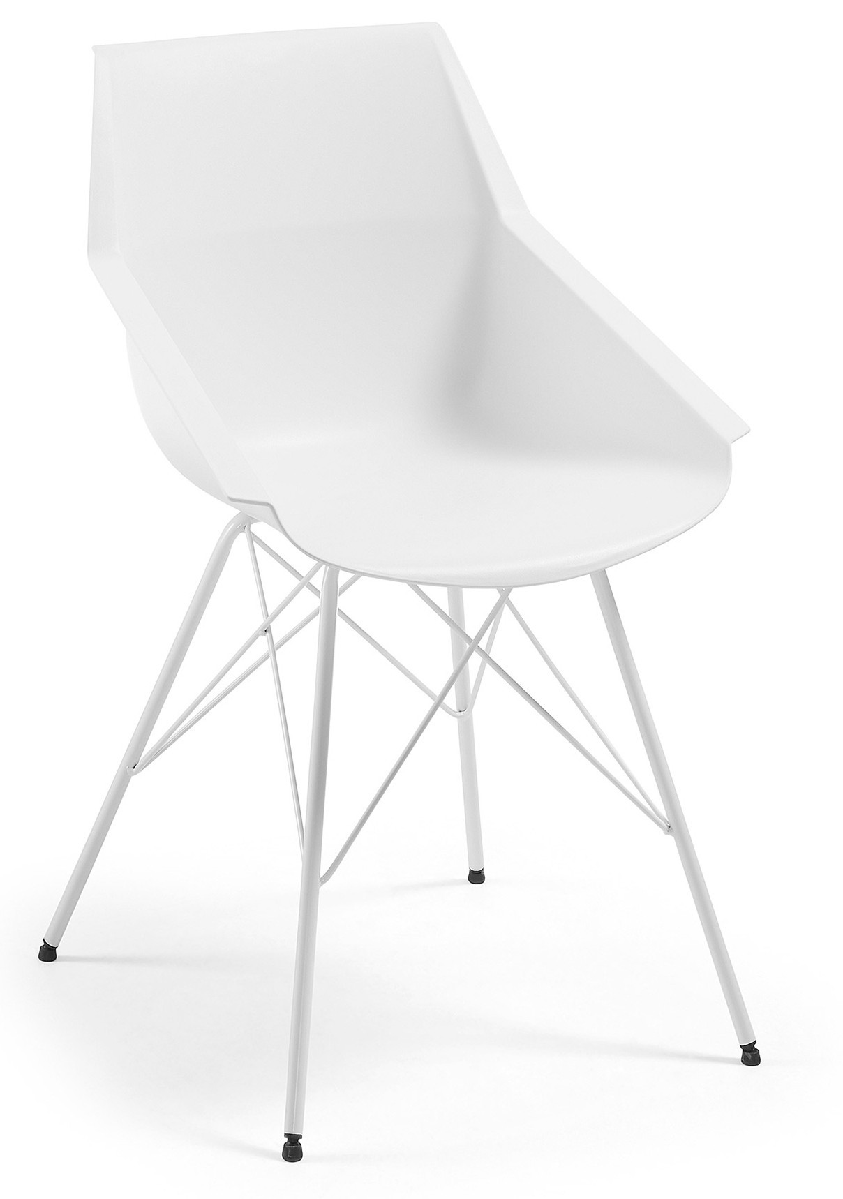 De kunn eetkamerstoel van laforma is een strakke stoel met geometrische vormgeving. de zitting is vervaardigd ...