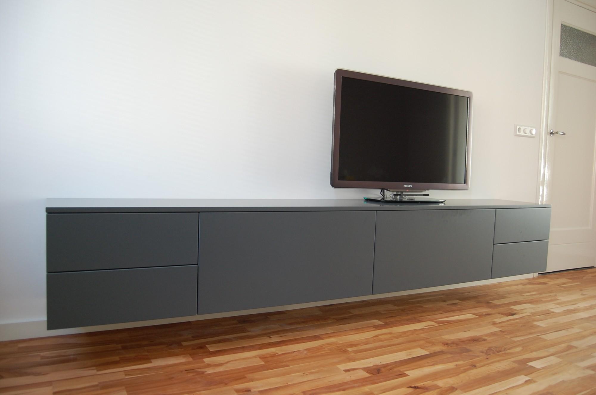 Modern Grijs Dressoir.A 250 Zwevend Dressoir Puur Interiors Maatwerk