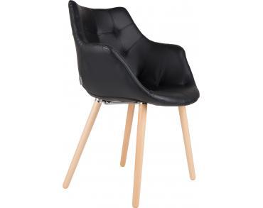 Stoel Zuiver Eleven : Chair twelve zwart kunstleder